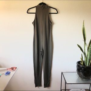 Free people intimately mock neck olive catsuit